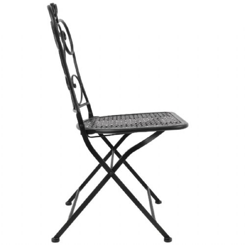 Bolero Steel Classic Folding Patio Chair Black (Pack of 2) - GR391